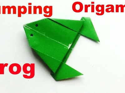 How To Make a Paper Jumping Frog - Origami Frog   Making a Paper Frog