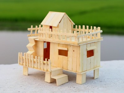 How to Make a Popsicle Stick House for Baby Doll