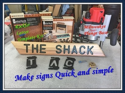 How to make a sign #MilwaukeeTool router.#Rockler letter template kit