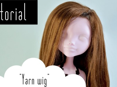 How to make a wig cap & wig  | yarn wig part 2