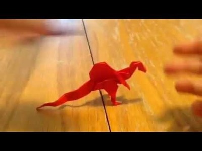 How to make an origami spinosaurus