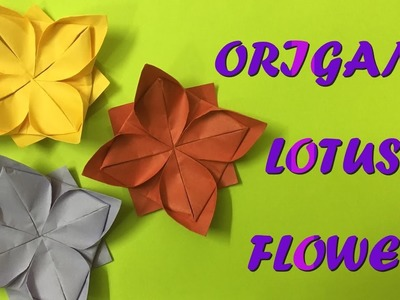 How to make an origami lotus flower - simple and easy crafts
