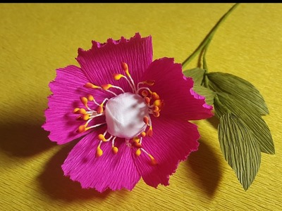 How to Make Beautiful Paper flowers - Flower Making of Crepe Paper - Paper Flower Tutorial