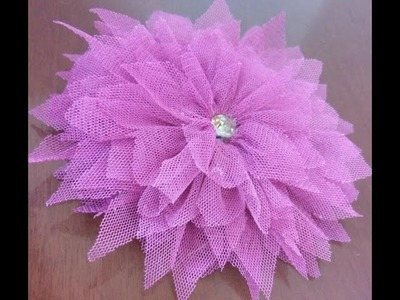 How to make beautiful tulle flower ????