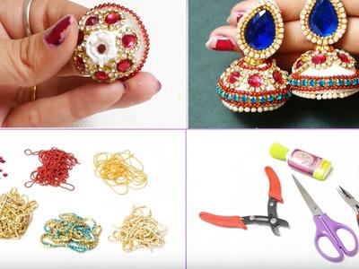 How to make Bridal Jhumkas at Home   Making Video