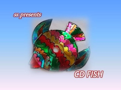 How to make fish using CD'S.Recycled CD Crafts ideas.Best out of the waste crafts