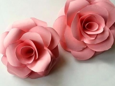 How to make flowers with paper [rose]