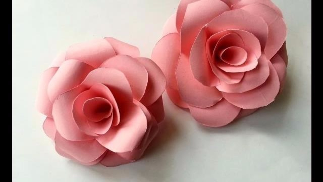 How To Make Flowers With Paper Rose