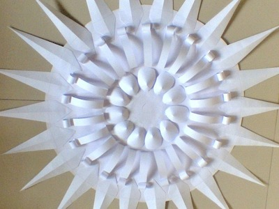 How to make gypsum ceiling disc from paper