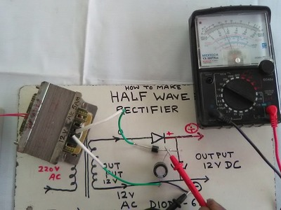 How To Make Half Wave Rectifier Easy At Home. YT-35