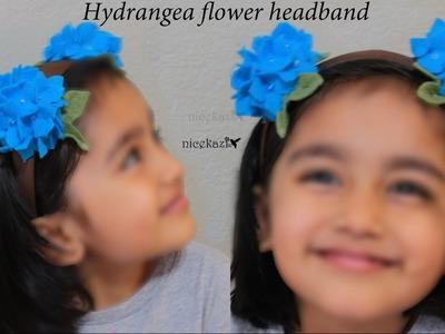 How to make Hydrangea flower headband
