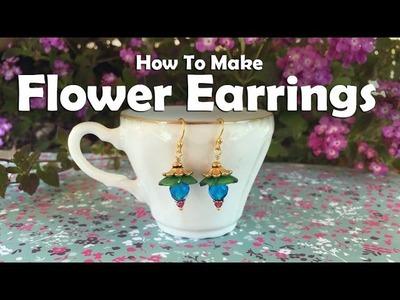 How To Make Jewelry: How To Make Flower Beaded Earrings