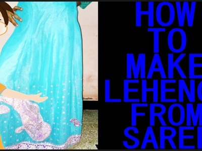 How To Make Lehenga From Saree   Cutting And Stitching   DIY - Tailoring With Usha