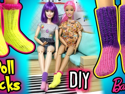 How to Make Miniature Barbie Doll Socks - DIY Easy Doll Clothes - Making Kids Toys