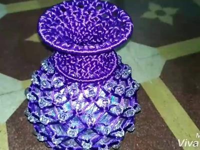 How to make moti macrame flower-pot.