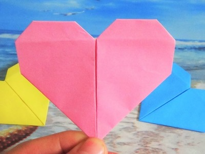 How to make origami heart paper