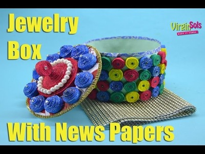 How to Make Paper jewelry box | Made up of Newspapers