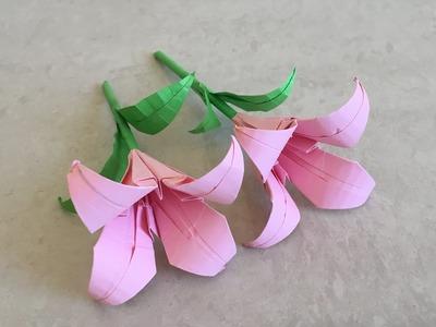 How to make paper lily. flower tutorial | Priti Sharma