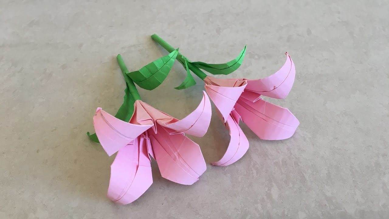 How to make paper lily. flower tutorial | Priti Sharma