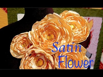 How To Make Satin Flowers! Super Easy