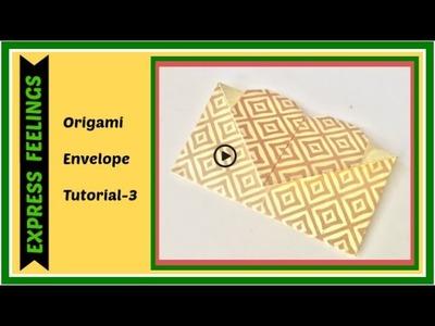 How to make Shagun Envelope ( lifafa) - Origami envelope - tutorial 3 in 3 minutes