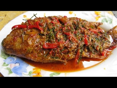 How To Make SPICY FRIED FISH - Khmer Food Cooking