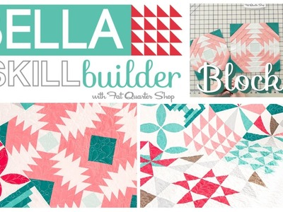 How to make the Bella Skill Builder Quilt: Block 3a and 3b Pineapple