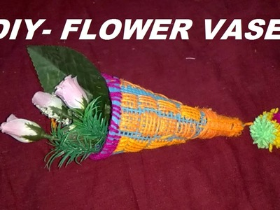 How to make wall hanging -FLOWER VASE