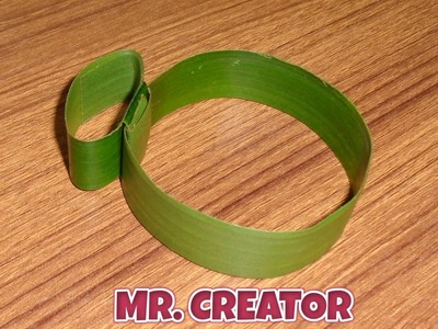 How to Make Wrist Watch With Coconut Leaves for Kids