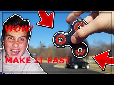 How to make your figet spinner go Fast!!