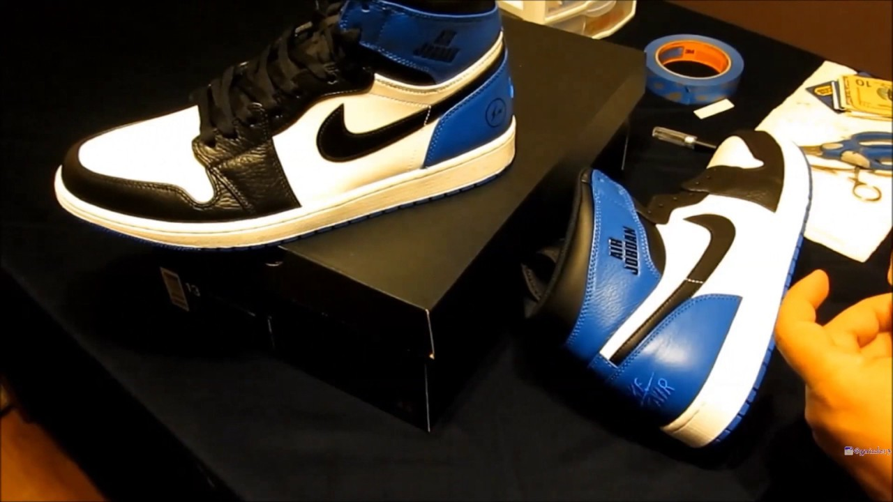 "How to Paint Jordan 1 ""Rare Air"" X Fragment (Custom Sneakers) Time-lapse Video"
