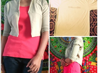 How to reuse a  t-shirt into cool.casual jacket