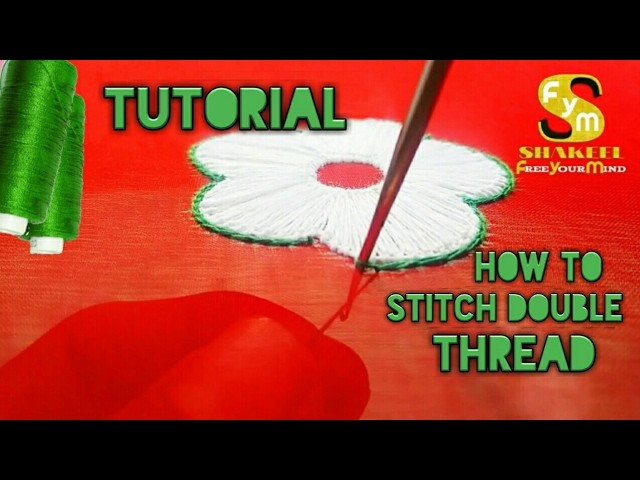How to Stitch double thread | Aari Tutorial