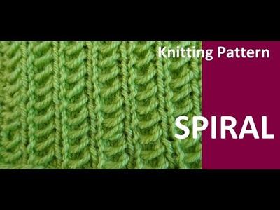 Knitting Pattern * SPIRAL * BEGINNER FRIENDLEY
