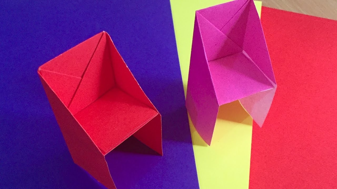 Origami chair craft for kids paper chairs for kids room for Origami decorations for your room