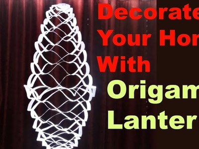 Origami Lantern - How to Make a Lantern at Home - Origami Paper Lantern Tutorial