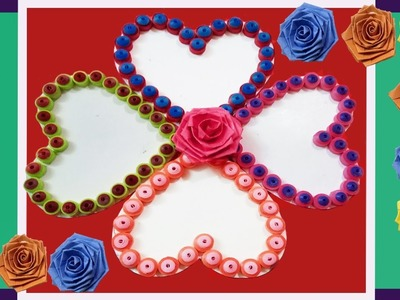 ☑️Paper Quilling ⏩How to make Beautiful Quilling????Heart\Love design Greeting Card | Indian Tradition