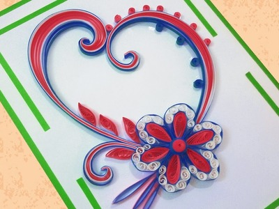 Paper Quilling | How To Make Beautiful  Flower Design Birthday Card |Indian Tradition |