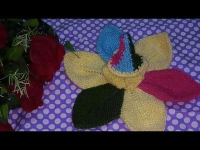 "Part 2.3.How to make.Knitted.star shaped. woolen.poshak.for.laddu gopal.krishna ji - ""Hare Krishna"""
