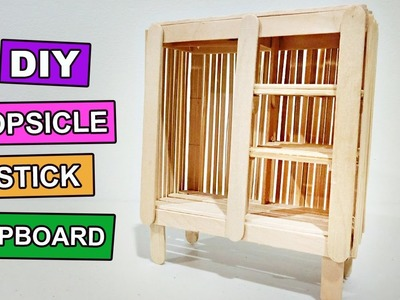 Popsicle Stick Crafts - How to make miniature Cupboard or Wardrobe