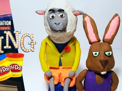 SING MOVIE Eddie Sheep and Dancing Rabbit Play Doh Figures | How to Make  Sing Characters tutorial