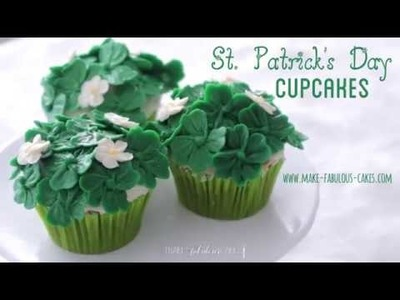 St. Patrick's Day Cupcakes - How to make Buttercream four leaf clovers