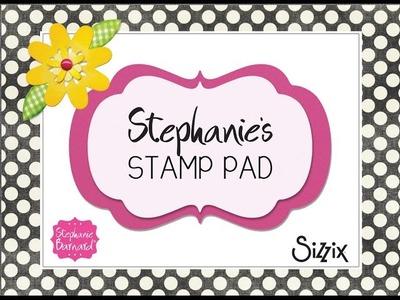 Stephanie's Stamp Pad #73 - How to Make a Heart Mini Gatefold Card