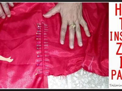 पैन्ट्स और स्कर्ट्स में ज़िप केसे लगाये | How To Insert Zip In Pants & Palazzo - Tailoring With Usha