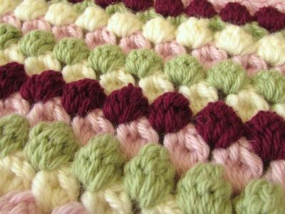 VERY EASY crochet bobble stitch blanket. afghan tutorial