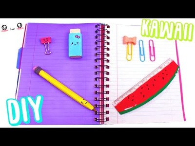 4 DIY fournitures scolaires KAWAII┃Reva ytb