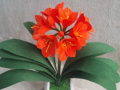 ABC TV | How To Make Kaffir Lily. Clivia Miniata Paper Flowers From Crepe Paper - Craft Tutorial