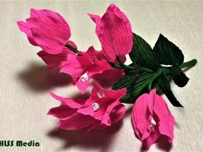 Beautiful bougainillea paper flower making easy and fast-diy crepe paper flowers design step by step