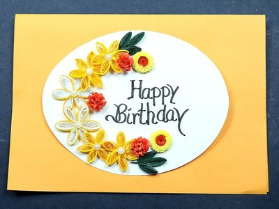 Birthday Card Making with Paper Quilling - Very Easy for Beginners