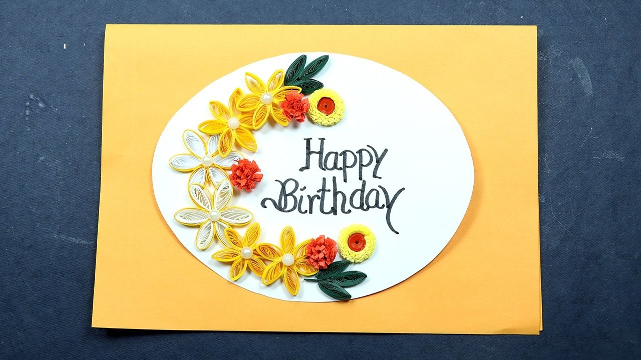 quilling birthday card making with paper quilling  very